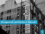 20 Google Adwords > Goede advertenties schrijven - Tales