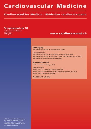 Supplementum 18 - Cardiovascular Medicine