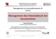 Patentauslaufstrategien - Fachgebiet Management im ...