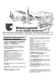 Mitteilungsblatt für den Stadtteil Altoberndorf