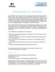 Urlaubsdialyse im LKH Villach - Landeskrankenhaus Villach