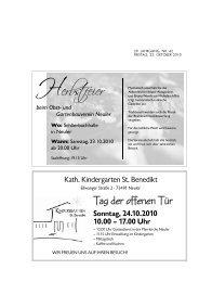 Sonntag, 24.10.2010 10.00 – 17.00 Uhr - Neuler