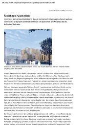 Ärztehaus rückt näher - Helfenstein-Klinik Geislingen