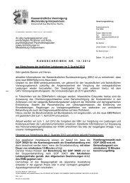 Rundschreiben Nr. 10/2012 - Kassenärztliche Vereinigung ...
