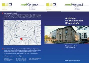 Ärztehaus im BusinessPark Bürgerstraße - medKonzept