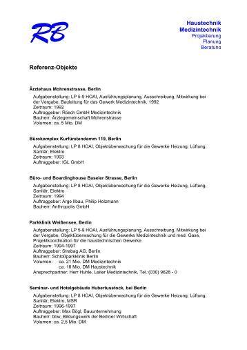 referenzen homepage rainer bachmann - Lebenslauf Referenzen
