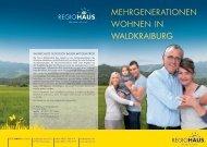 Mehrgenerationen wohnen in waldkraiburg - Regiohaus Bau GmbH