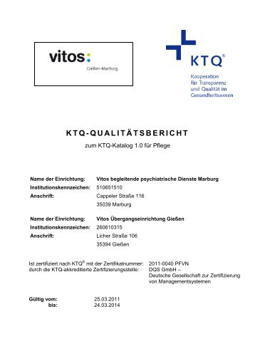 Zum KTQ-Qualitätsbericht