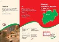 Fachtagung Gesundheit & Migration 25. Januar 2011 17.30 bis ...