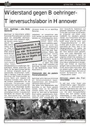 Widerstand gegen Boehringer- Tierversuchslabor ... - Projektwerkstatt