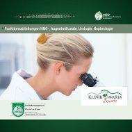 Funktionsabteilungen HNO-, Augenheilkunde, Urologie, Nephrologie