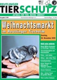 im Reutlinger Tierheim - Tierschutzverein Reutlingen eV