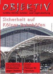 Objektiv Ausgabe Nr. 2 - Jugend pro Köln