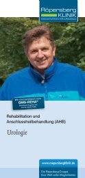 Leistungsspektrum Urologie - Röpersbergklinik
