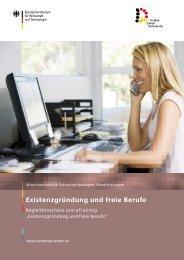 Existenzgründung und freie Berufe - Bundesverband der Freien ...