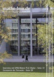 Mathe 13.indd - Mathematisches Institut der Ludwig-Maximilians ...