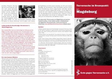 Tierversuche im Brennpunkt Magdeburg - Magdeburg Vegan