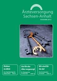 Download Ausgabe 01/2012 - Ärzteversorgung Sachsen-Anhalt