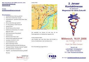 2. Jenaer Kontaktmesse Mittwoch, 16.01.2008 - Fachschaft Medizin ...