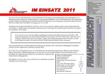 IM EINSATZ 2011 - Ärzte ohne Grenzen
