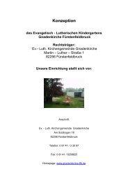 Konzeption - Evang.- Luth. Kindergarten Gnadenkirche