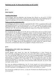 Beschlüsse aus der 10. Sitzung des Kreistags am ... - Landkreis Calw