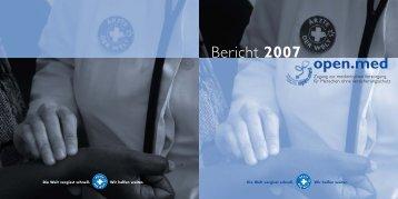 open.med Bericht 2007 - Ärzte der Welt e.V.