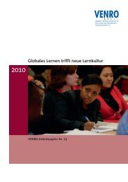 Globales Lernen trifft neue Lernkultur - Venro