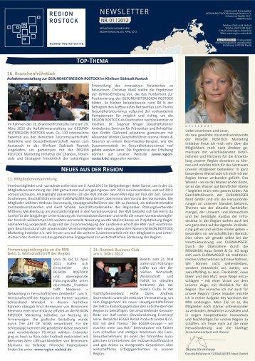NEWSLETTER - Region Rostock Marketing Initiative e.V.