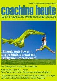 Energie statt Power - Coaching heute
