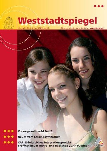 Weststadtspiegel Weststadtspiegel - KA-News