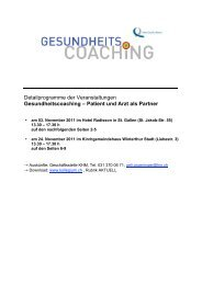 Patient und Arzt als Partner - Kollegium für Hausarztmedizin