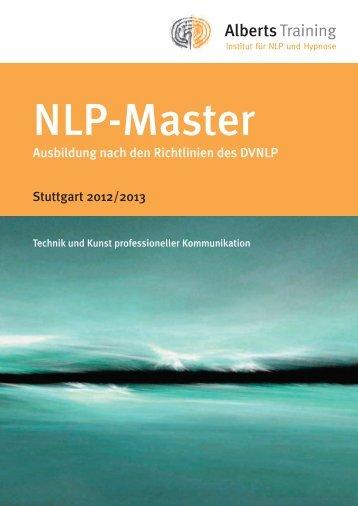Ausführlicher Prospekt/Kosten NLP Master - Alberts Training
