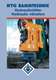 Hydraulikrüttler Hydraulic vibrators - AGD Equipment