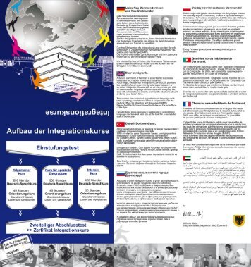 Flyer Integrationskurse - Auslandsgesellschaft Deutschland