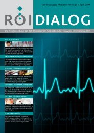ROI Dialog Medizintechnologie - ROI Management Consulting AG