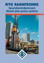 Spundwandpressen Sheet pile press system - AGD Equipment
