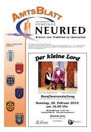 Benefizveranstaltung Sonntag, 28. Februar 2010 um 16.00 Uhr