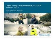 Agder Energi – Konsernstrategi 2011-2014 - Agdereierne