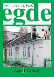 EGDE nr 1 - 2012 - Agder Historielag