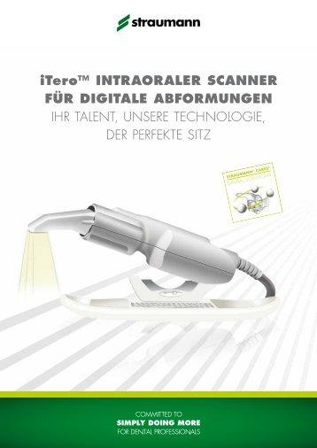 iTero™ Intraoraler Scanner für digitale Abformungen - Straumann