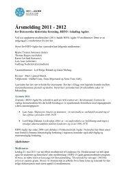 Årsmelding HIFO Agder 2011-2012