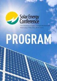 the Solar Energy Conference 2012 in Kristiansand - Agderforskning ...