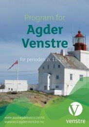 Program Agder 2011 12s.indd - Venstre
