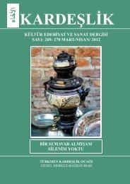 269- 270 mart-nisan/ 2012 türkmen kardeşli̇k ocaği