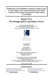 Report No.1 The Disaggregated Agriculture Sector - WARR