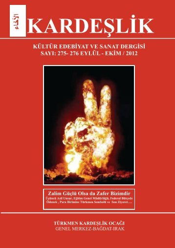 k ardeşli̇k kültür edebi̇yat ve sanat dergi̇si̇ sayi: 275- 276 eylül