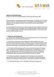Allgemeine Geschäftsbedingungen auf Basis der ... - Art 4 Web
