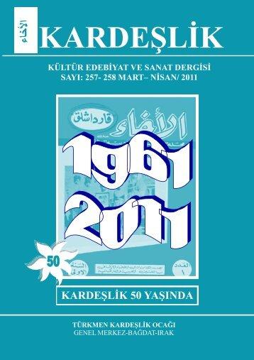 k ardeşlik kültür edebiyat ve sanat dergisi sayı: 257- 258 mart– nisan
