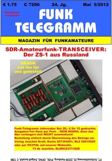 Licht aus dem Osten: SDR-Transceiver ZS-1 - Funk-Telegramm